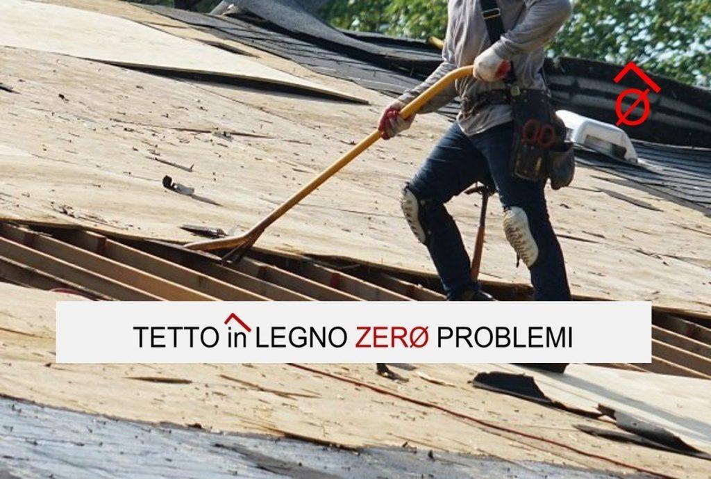 guaina bituminosa sul tetto in legno