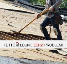 Guaina bituminosa su tetto in legno